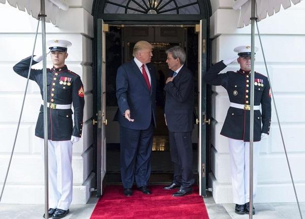 Trump e Gentiloni sulla Nato (Fonte: today.it)