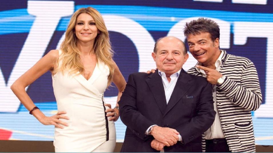 "Giancarlo Magalli e le sue ""vittime: Adriana Volpe e Marcello Cirillo"
