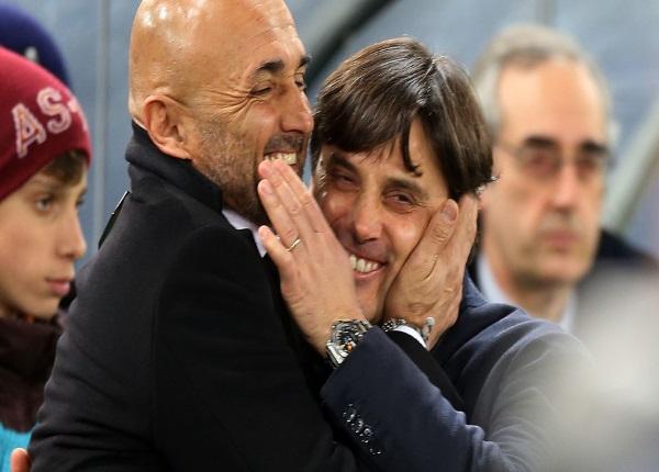 Milan-Roma è la sfida tra Montella e Spalletti