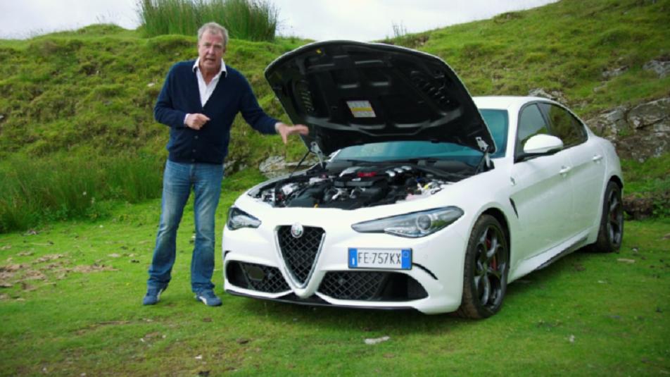 Alfa Giulia: Jeremy Clarkson in Italia con la Quadrifoglio