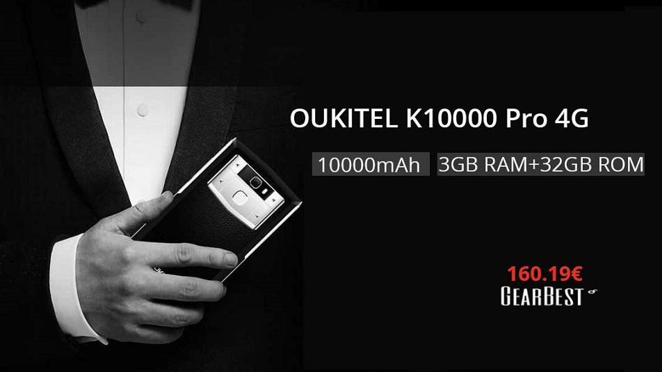 Oukitel K10000 Pro: in offerta su Gearbest lo smartphone con batteria da 10.000 mAh