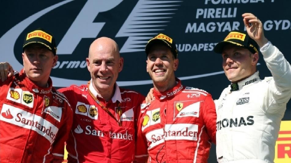 F1: doppietta Ferrari in Ungheria con Vettel primo