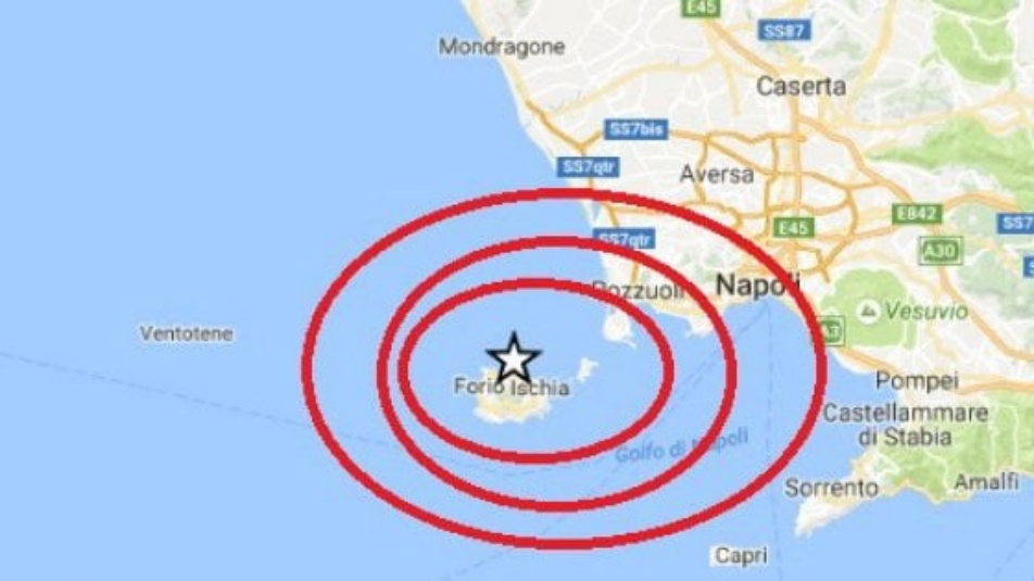 terremoto Ischia aggiornamenti ingv