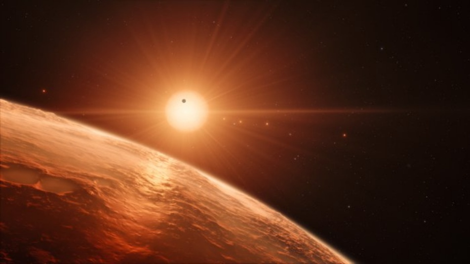 Terra Artist's impression of the TRAPPIST-1 planetary system