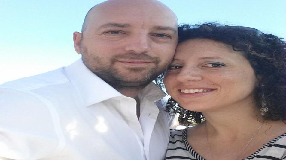 Elisa Girotto, con il marito Alessio