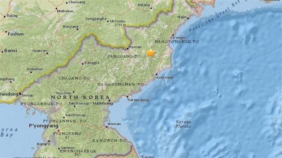 Scossa sismica in Corea del Nord
