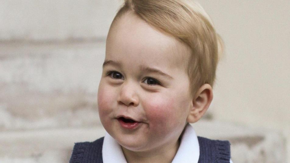 Baby George: primo giorno di scuola