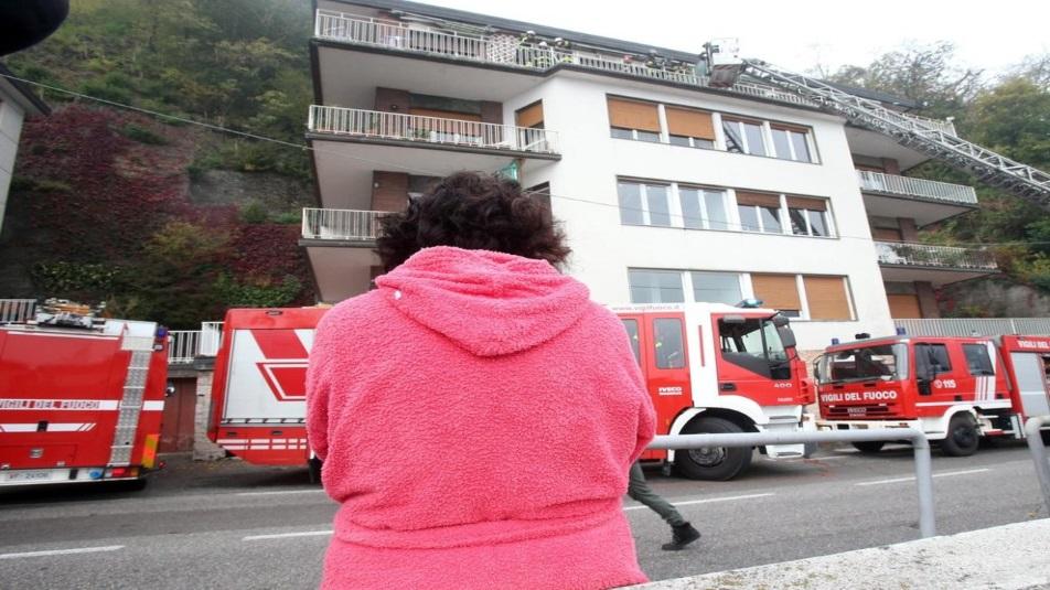 Incendio appartamento Como