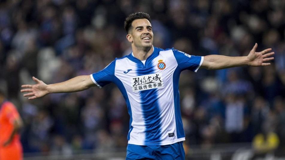 Jurado, protagonista di Espanyol-Levante