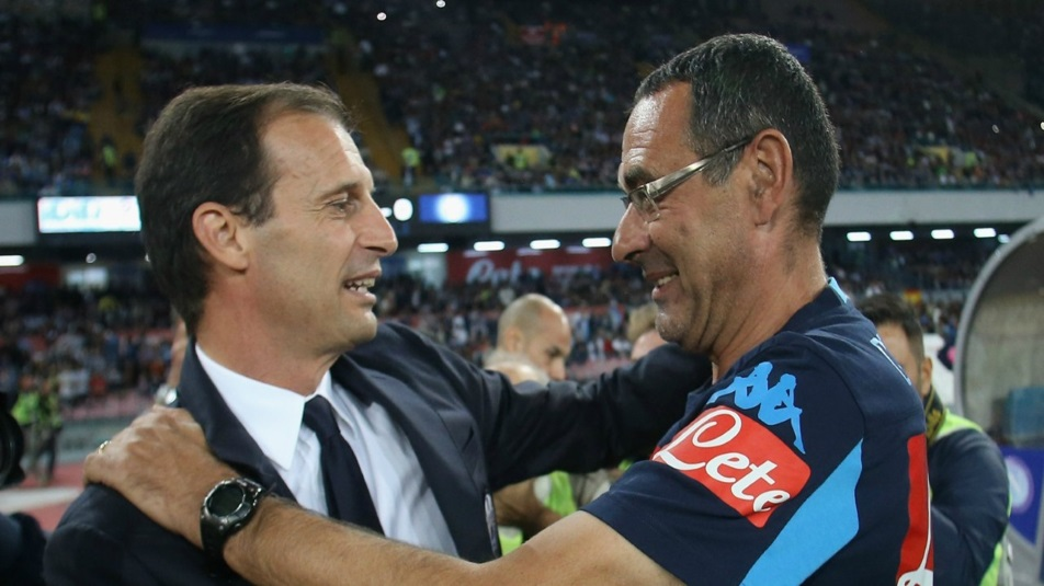 Sarri e Allegri si sfidano in Napoli-Juventus