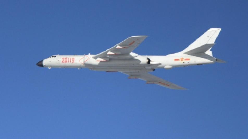 Bombardieri Xian Cinese vicino al giappone