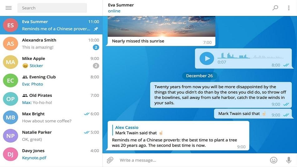 Telegram Desktop: l'aggiornamento introduce temi personalizzabili