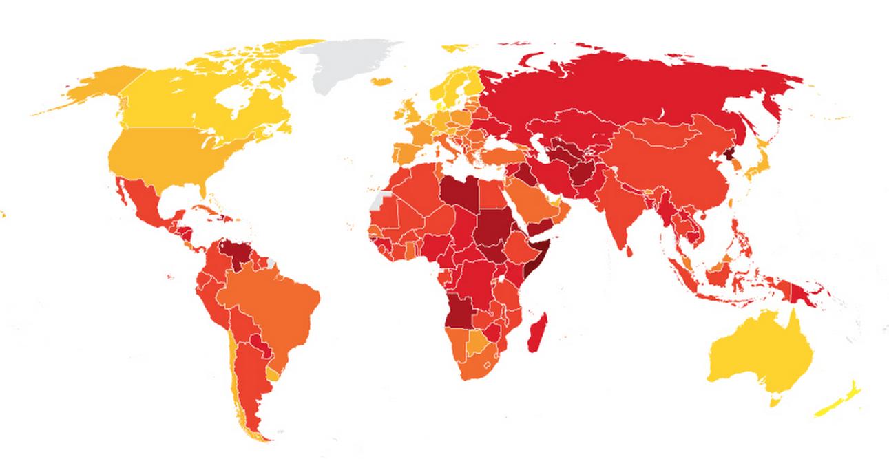 Corruzione: la mappa dei Paesi del mondo