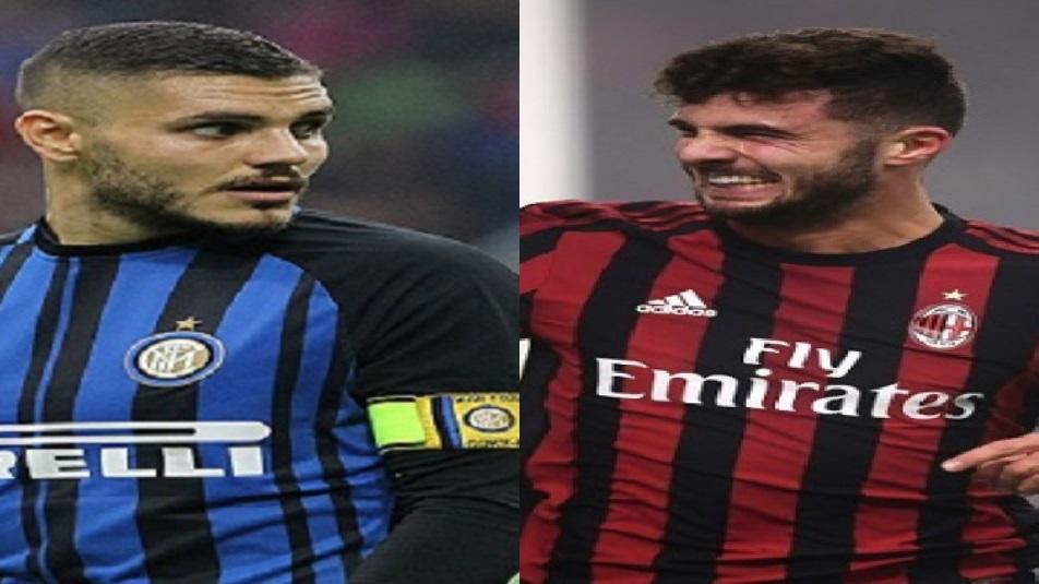 Cutrone-Icardi si sfidano in Milan-Inter