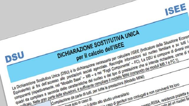 DSU precompilata 2020 ISEE precompilato slitta a data da destinare