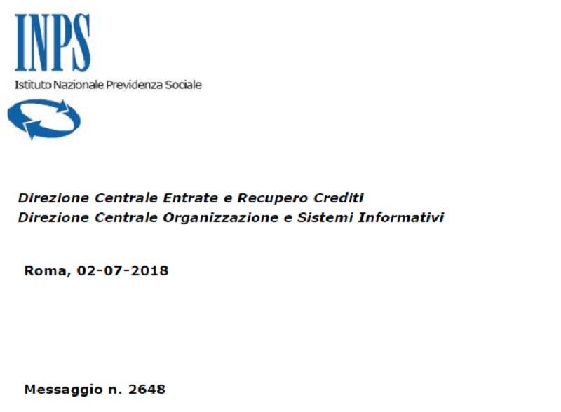 Durc on line 2018, INPS messaggio numero 2648 del 02-07-2018