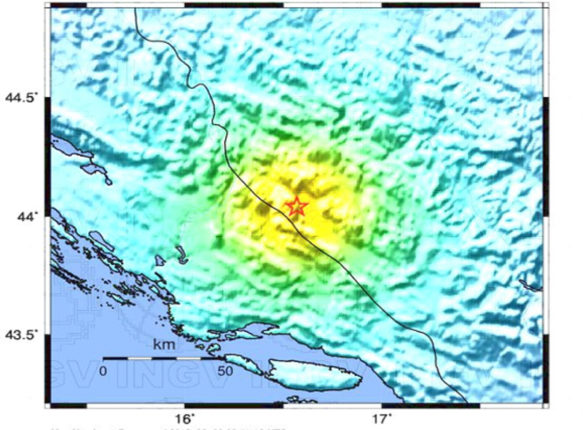 Terremoto in Bosnia Erzegovina oggi 30 Agosto 2018