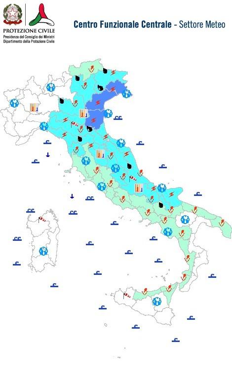 allerta meteo italia oggi 26-08-2018 domenica
