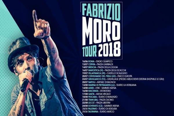 Fabrizio Moro tour 2018 date concerti