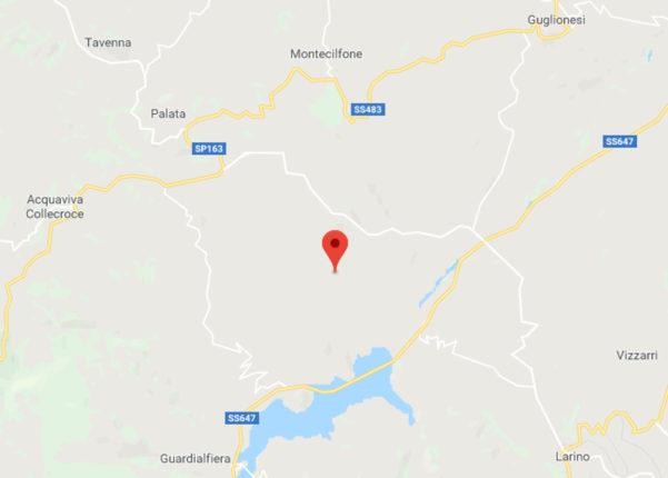 Scossa di terremoto a Montecilfone (CB)