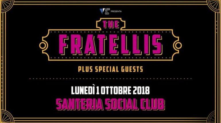 The Fratellis live tour a Milano lunedì 1 ottobre