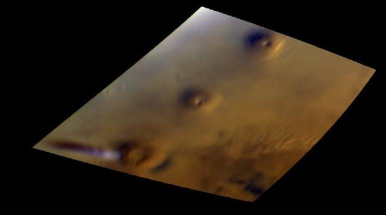 Nuvola bianca su Marte
