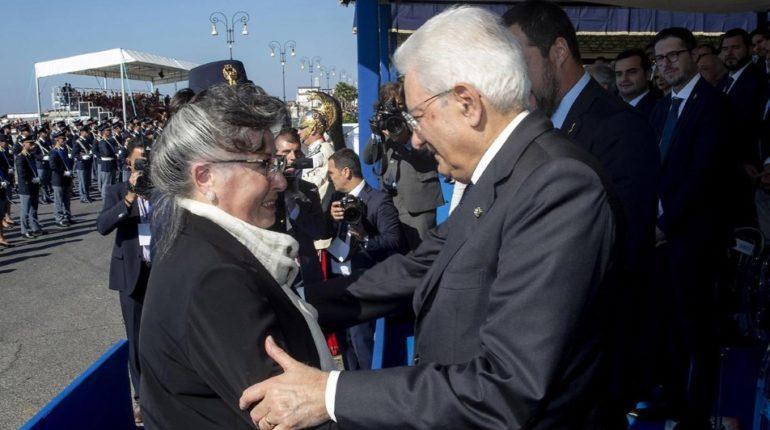 Sergio Mattarella con la signora Turazza