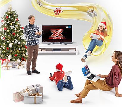 Sky e Fastweb: grande offerta per Natale
