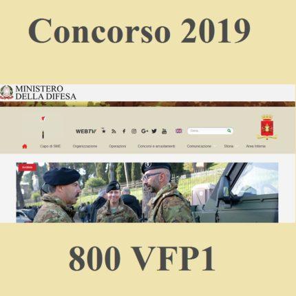 Concorso esercito italiano 2019