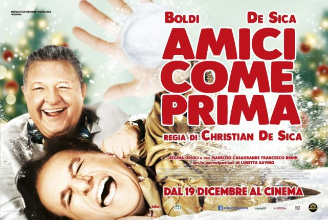 """Boldi- De Sica di nuovo insieme nel nuovo cinepanettone """"Amici come prima"""""""