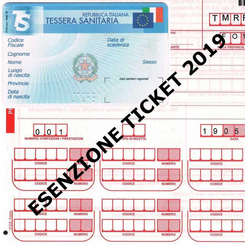 esenzione ticket 2019