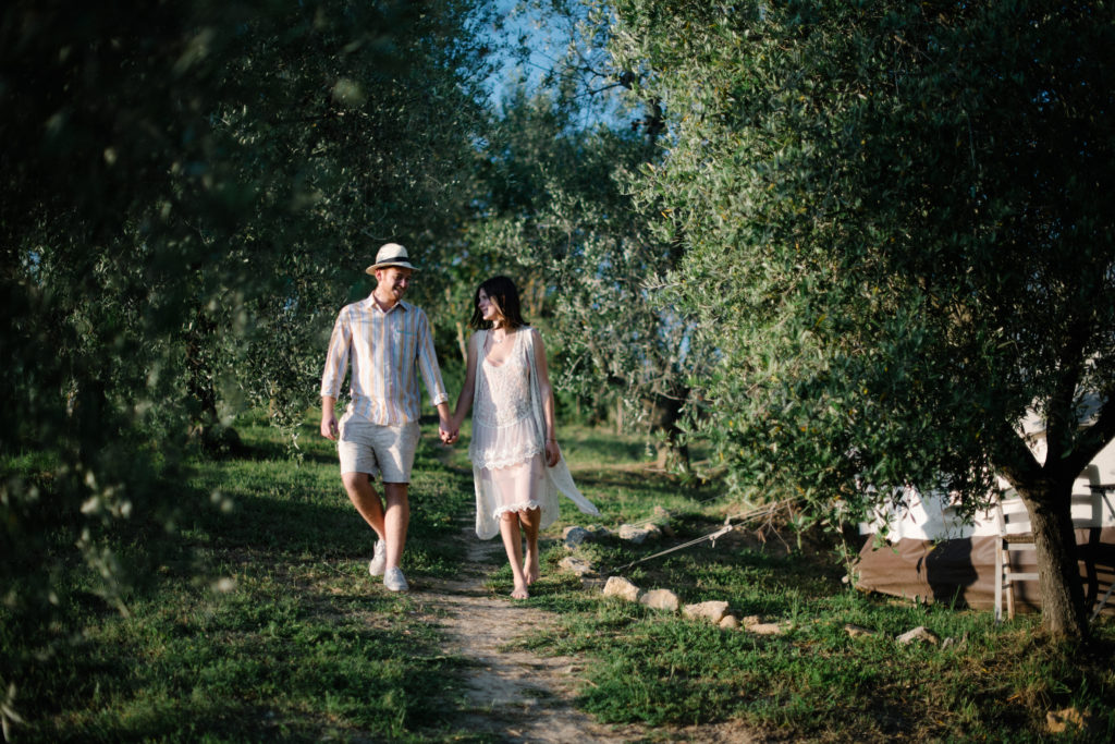 Fuga d'amore a San Valentino in Italia, The Lazy Olive Glamping