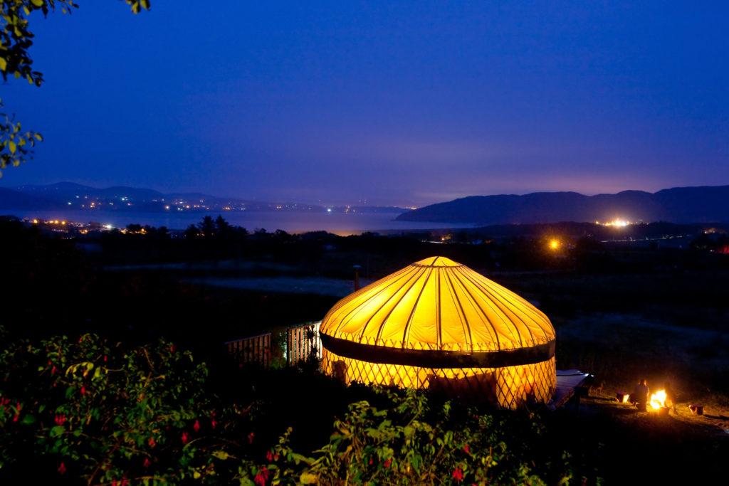 Fuga d'amore a San Valentino in Irlanda, Portsalon Luxury Camping