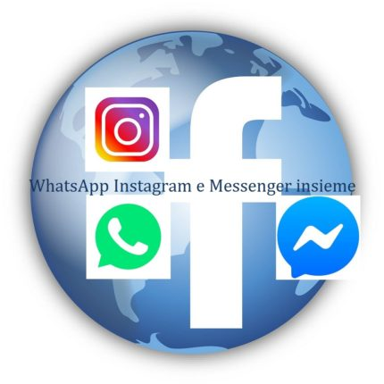 WhatsApp Instagram e Messenger insieme
