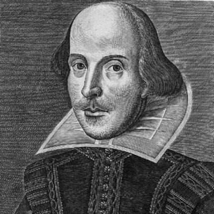 William Shakespeare in un ritratto di Droeshout (1623)