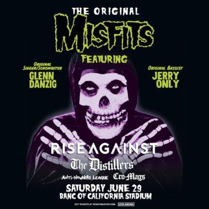 Misfits locandina concerto Los Angeles