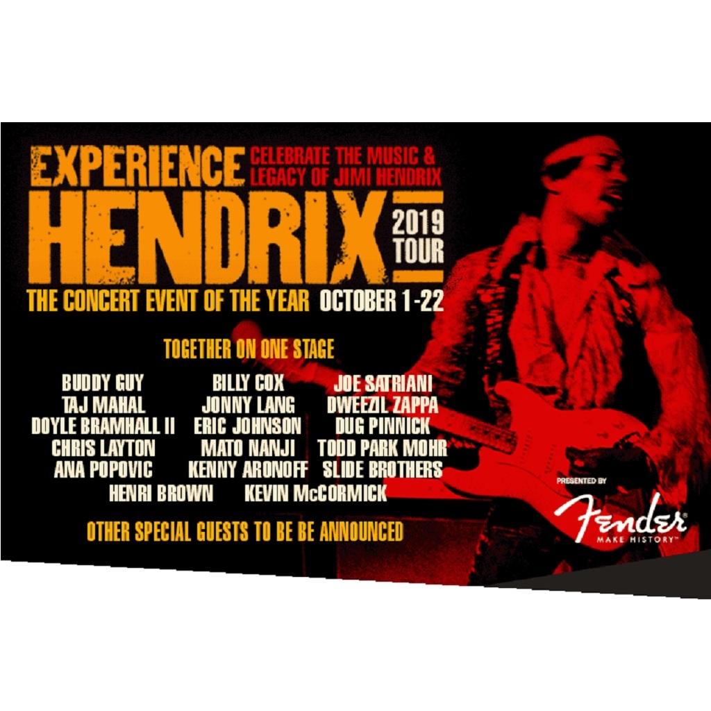 Jimi Hendrix locandina Experince Hendrix 2019 tour