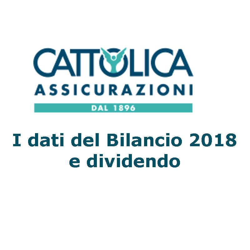 Risultato di esercizio 2018 gruppo Cattolica