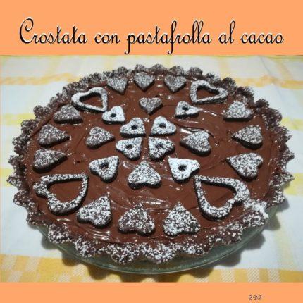 Crostata con pastafrolla al cacao