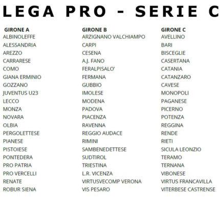 Calendario Serie C 2020 20.Serie C 2019 20 Squadre Archivi Webmagazine24