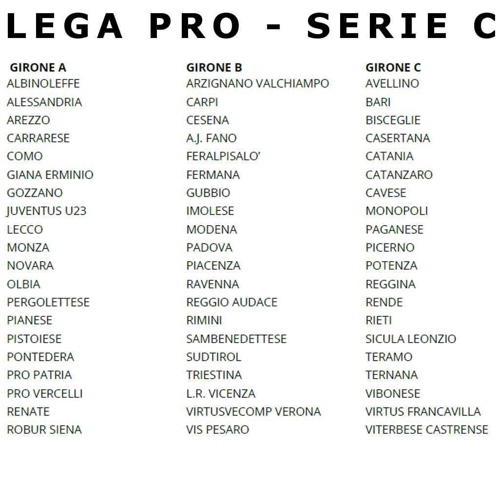 Calendario Calcio Padova.Calendario Serie C 2019 2020 Lega Pro Al Via Il 25 08