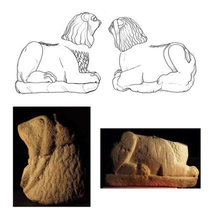 Il restauro di una scultura funeraria etrusca foto