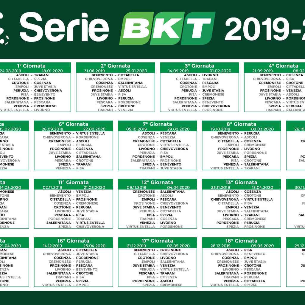 Calendario Gennaio 2020.Calendario Serie B 2019 2020 Sponsor E Pallone Webmagazine24