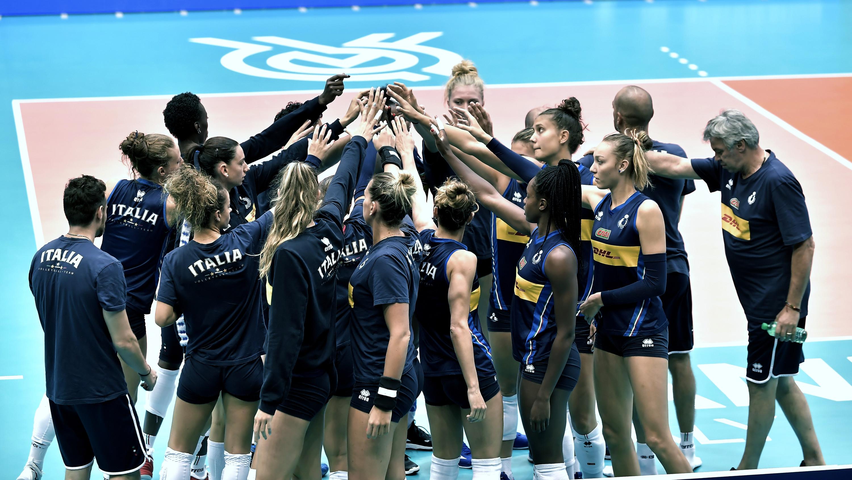 Nazionale italiana pallavolo femminile batte l'Olanda