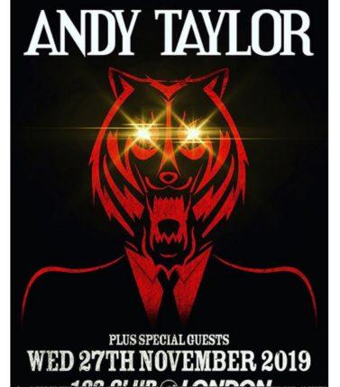 Andy Taylor torna dal vivo locandina
