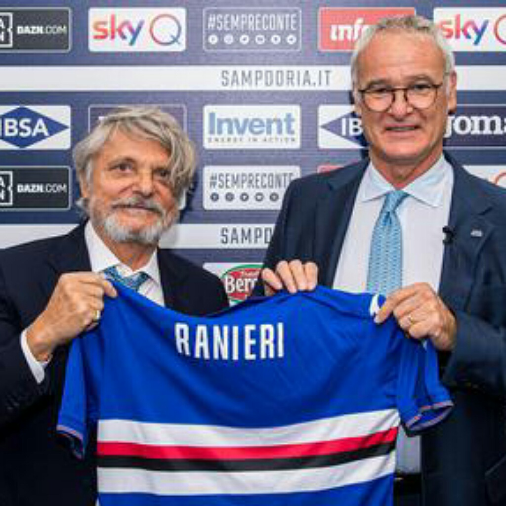 Ranieri conferenza stampa sampdoria