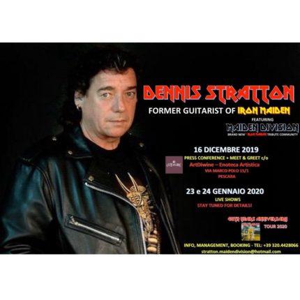 Dennis Stratton ex Iron Maiden in Italia foto