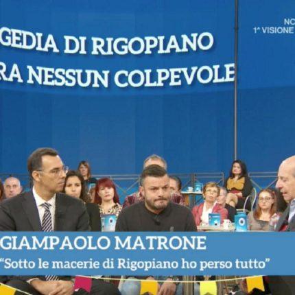 """Rigopiano il superstite Matrone a """"I Fatti Vostri"""""""