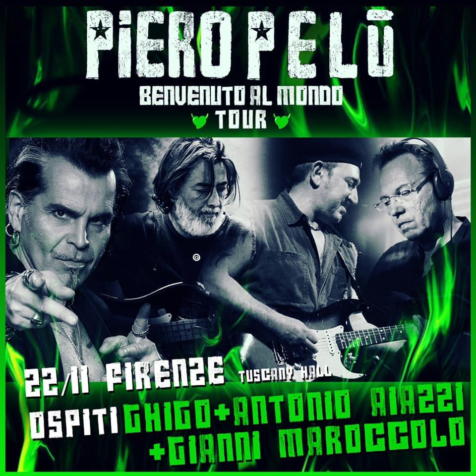 Piero Pelù annuncia concerto speciale locandina foto