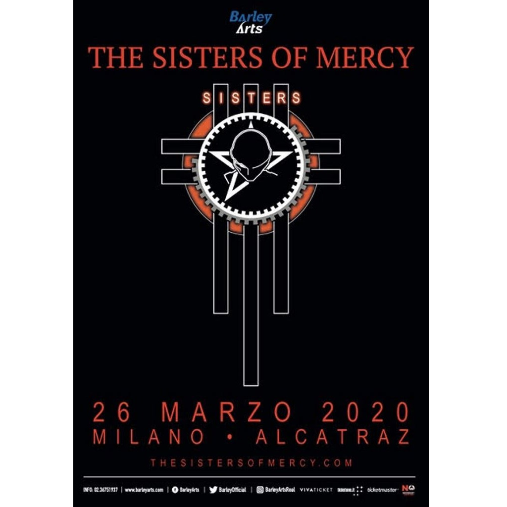 The Sisters Of Mercy a Milano locandina